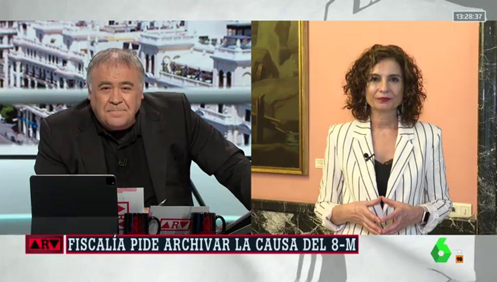 """Montero, sobre la petición de la Fiscalía de archivar la causa del 8M: """"Lo importante es que todos seamos conscientes de que en política no vale todo"""""""