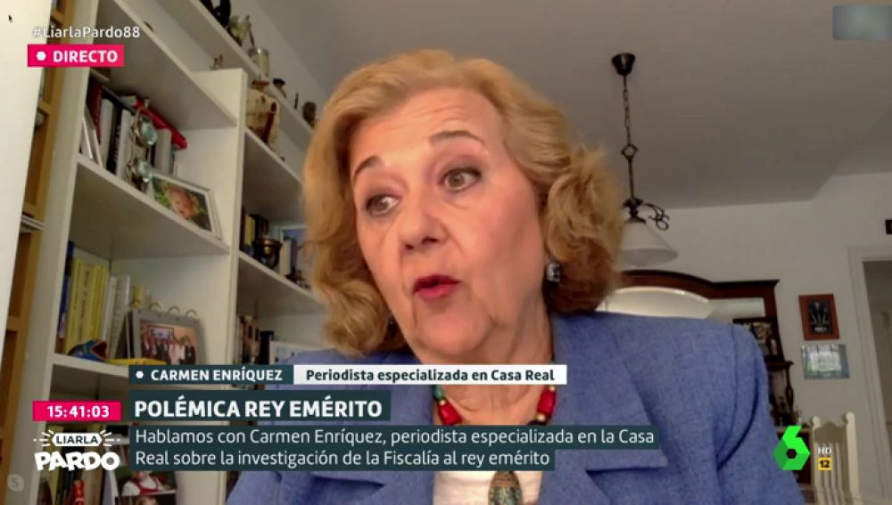 """Carmen Enríquez, sobre la renuncia del rey Felipe VI a la herencia de Juan Carlos I: """"Cortó de raíz la vinculación con negocios poco claros"""""""