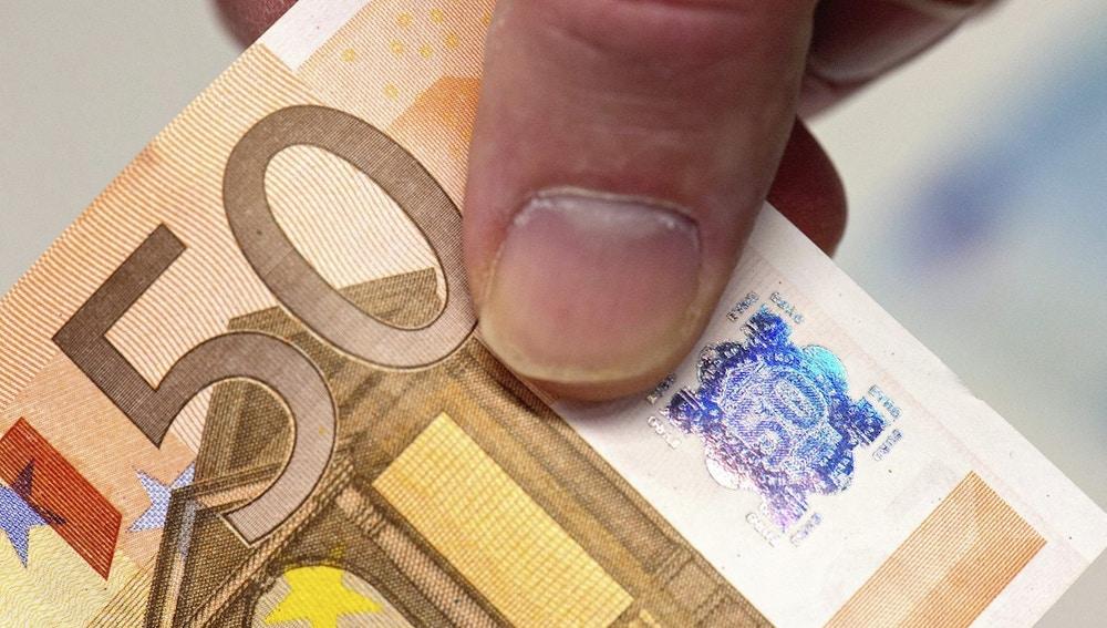 Imagen de archivo de un billete de 50 euros
