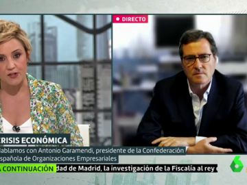 Cristina Pardo entrevista en Liarla Pardo a Antonio Garamendi,