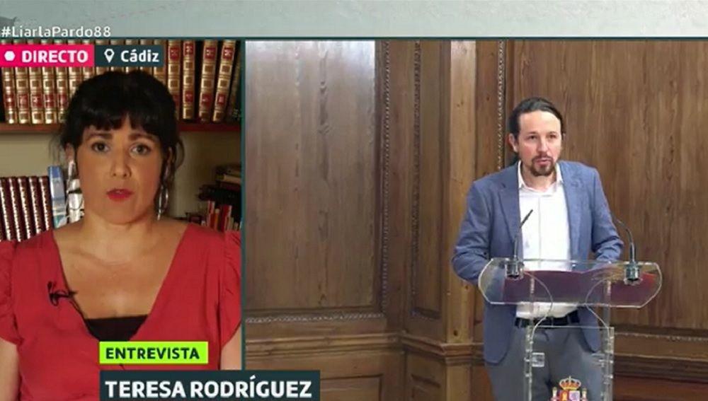 Teresa Rodríguez en Liarla Pardo