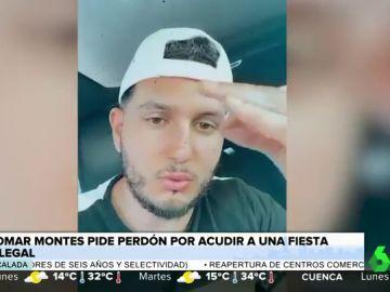 """Omar Montes tiene que pedir perdón tras grabarse en una fiesta ilegal con más de 100 personas: """"Soy un inconsciente"""""""