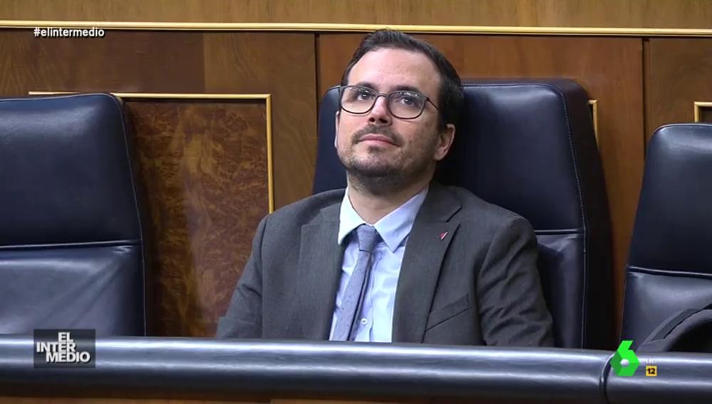 Vídeo manipulado -  La aparición divina de Alberto Garzón en el Congreso de los Diputados