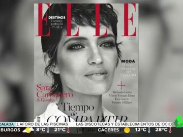 La espectacular portada solidaria de Sara Carbonero luciendo el pelo corto