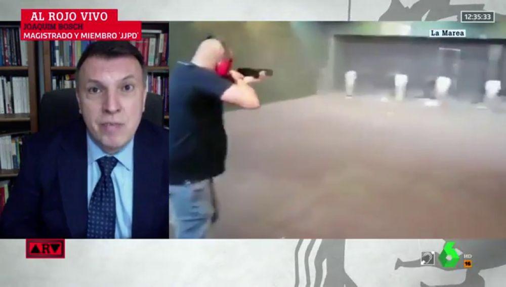 ¿Podría acusarse de algún delito al exmilitar que disparó contra las fotos de Sánchez e Iglesias?