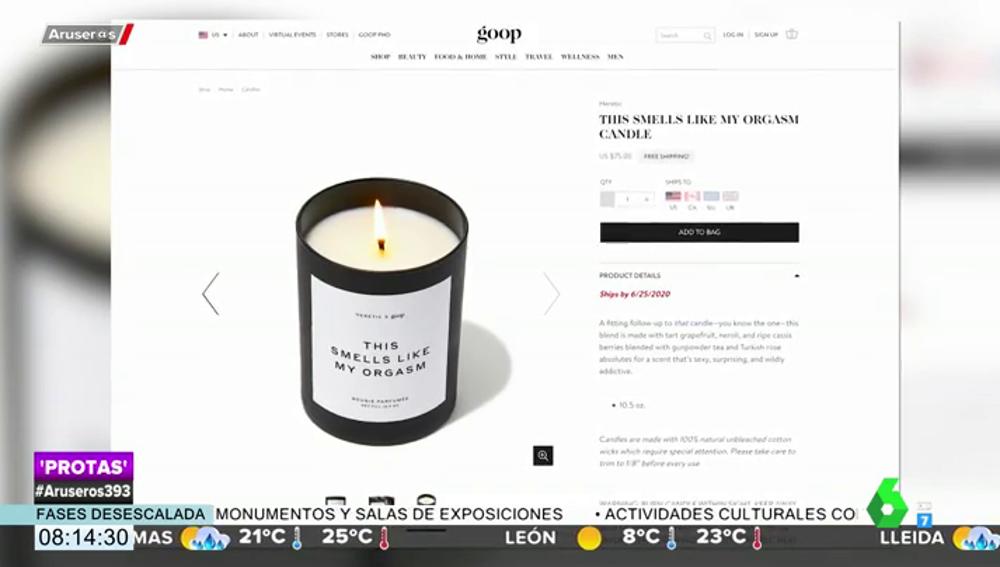 La última excentricidad de Gwyneth Paltrow: lanza la vela que huele a sus orgasmos