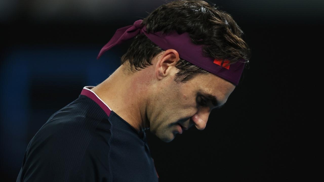 Roger Federer, cabizbajo