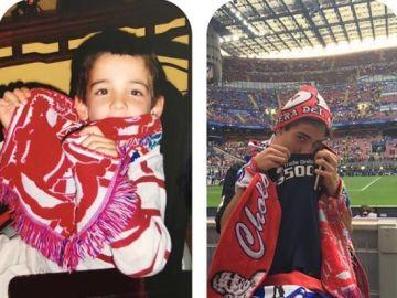 Pablo, joven aficionado del Atlético de Madrid