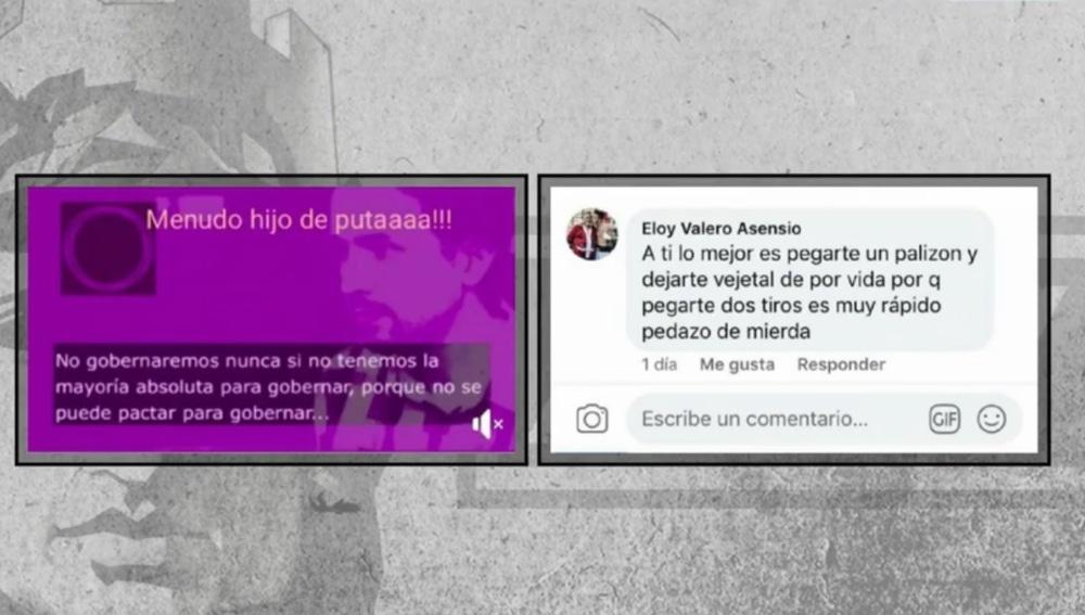 Captura de los insultos a Pablo Iglesias