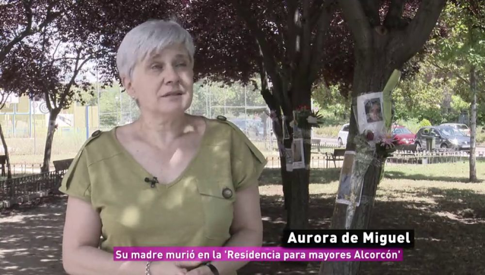 Aurora de Miguel, su madre murió en la 'Residencia para mayores Alcorcón'