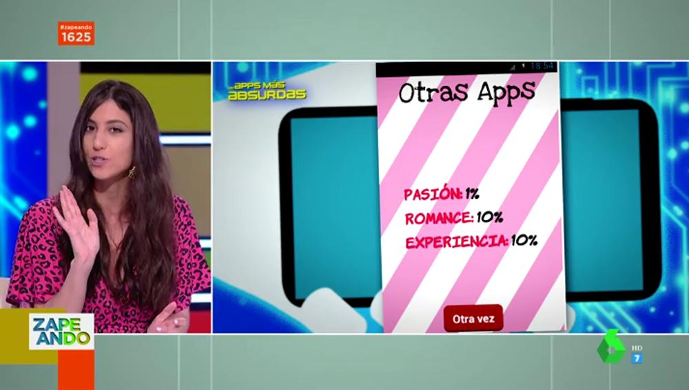 Maya Pixelskaya descubre en Zapeando las aplicaciones más absurdas