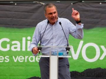 Javier Ortega Smith, secretario general de Vox, en un acto en Pontevedra