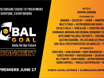 El cartel del concierto Global Goal: Unite for Our Future