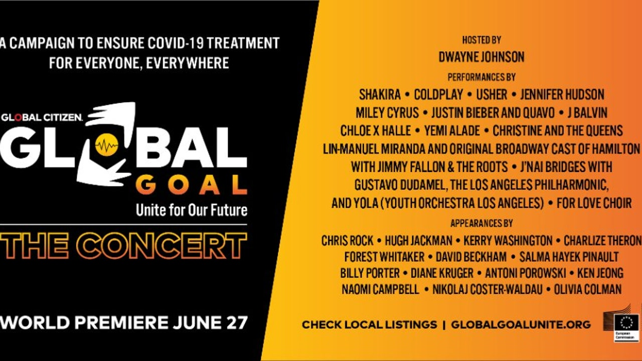 El cartel del concierto Global Goal: Unite for Our Future