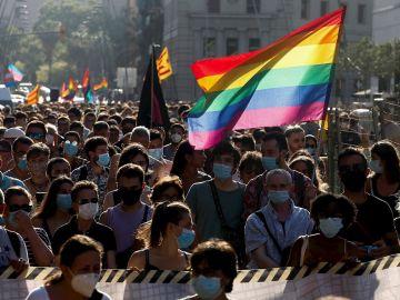 Movilización LGTBIQ en Barcelona