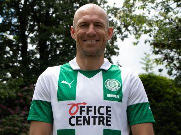 Arjen Robben, con la camiseta del Groningen