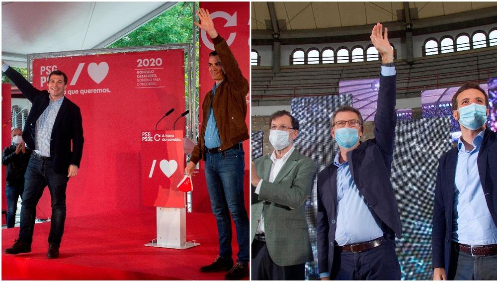 Actos de campaña del PSOE y el PP en Galicia por las elecciones
