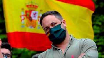 El líder de Vox, Santiago Abascal, durante un acto de campaña