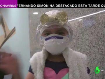 Ainhara, de seis años, ha superado el cáncer gracias a la protónterapia