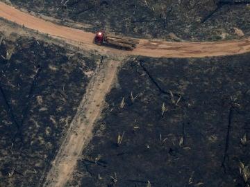 Imagen del incendio del Amazonas