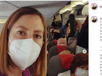 La fotografía con la que la divulgadora científica Deborah García ha ilustrado su denuncia.