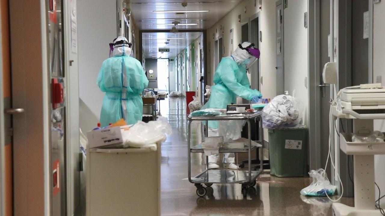 Sanitarios en un hospital