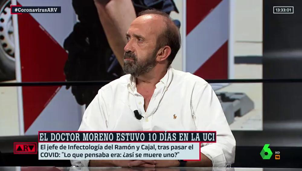 El doctor Santiago Moreno, jefe del servicio de enfermedades infecciosas del Hospital Universitario Ramón y Cajal.