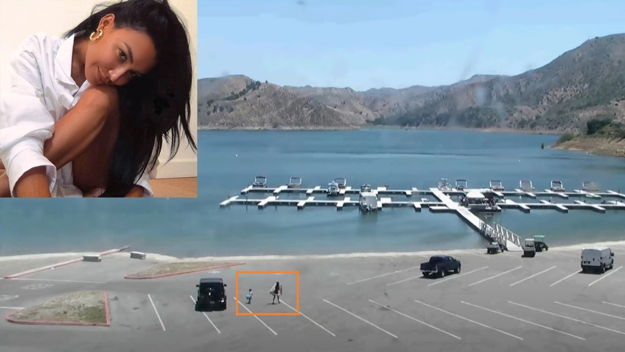 Las cámaras de seguridad grabaron el momento en el que la actriz y su hijo salieron
