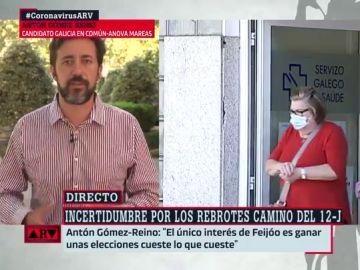 El candidato de Galicia en Común a la Xunta, Antón Gómez Reino
