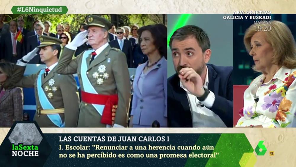 """Escolar, sobre Felipe VI: """"Renunciar a una herencia cuando aún no se ha percibido es como una promesa electoral"""""""