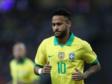 Neymar, con la selección brasileña