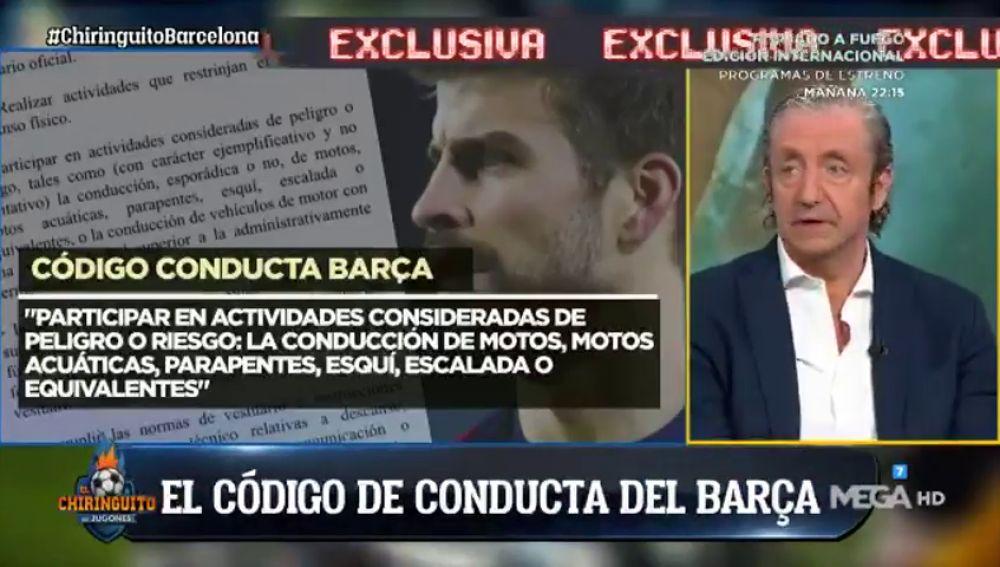 Documento exclusivo: Piqué contraviene el código de conducta del Barcelona