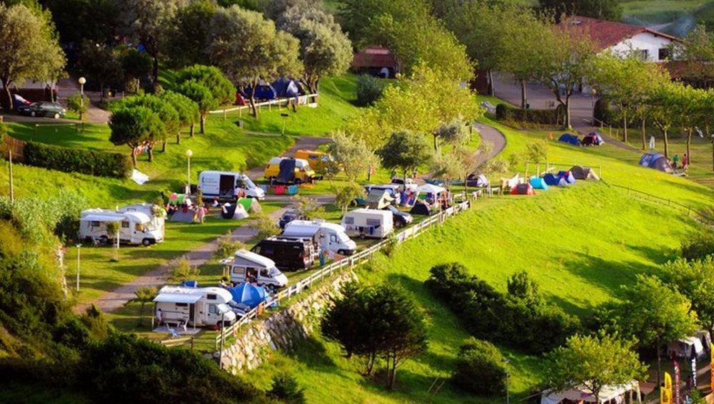 Camping en el que se han detectado casos de coronavirus en Zarautz