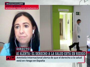 La responsable de derechos económicos, sociales y culturales en Amnistía Internacional España, Marta Mendiola