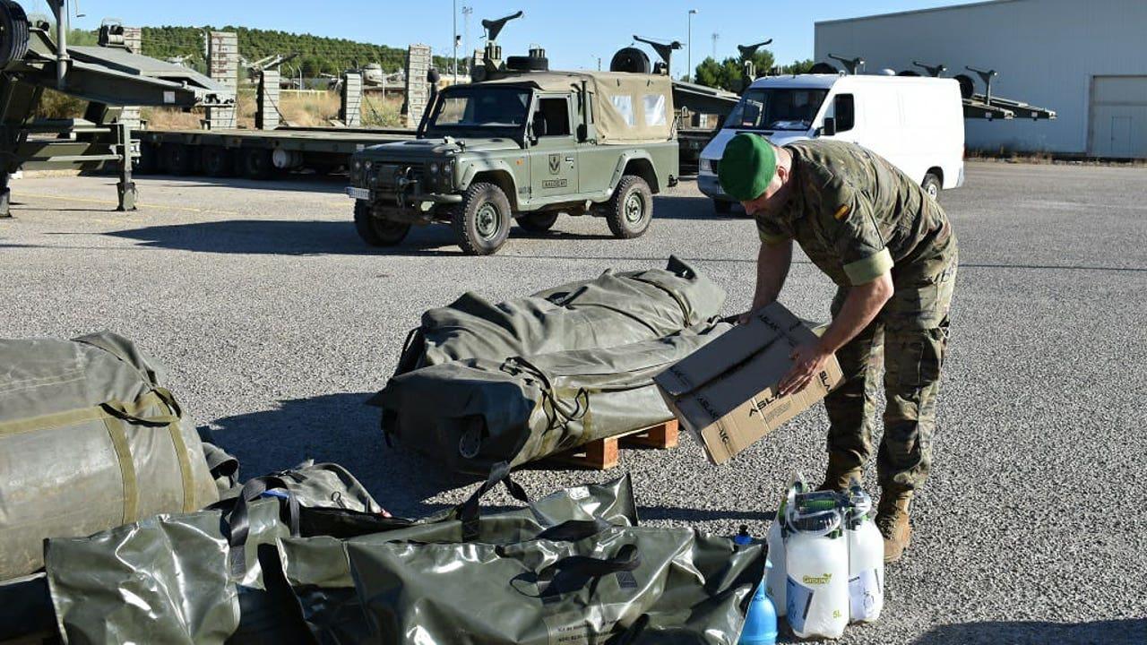 El Ejército se despliega en Albalate para prestar apoyo por un brote de Covid