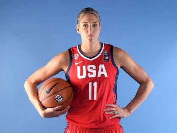 Delle Donne, con la selección estadounidense de baloncesto femenino