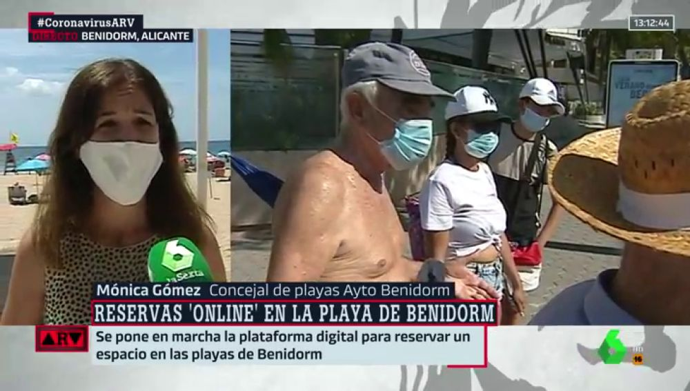 La concejal de playas de Benidorm, Mónica López