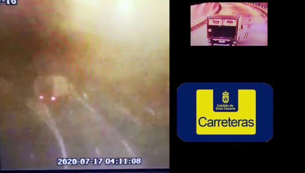 Gran Canaria pide colaboración para localizar a un conductor que circuló casi un kilómetro en sentido contrario
