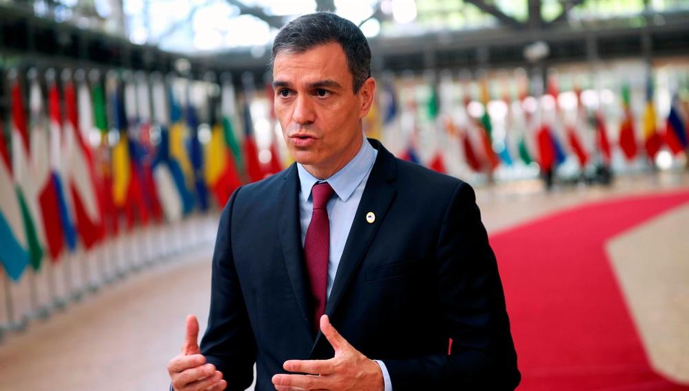 Pedro Sánchez a su llegada a la cumbre europea