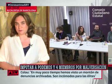 La alcaldesa de Barcelona. Ada Colau.