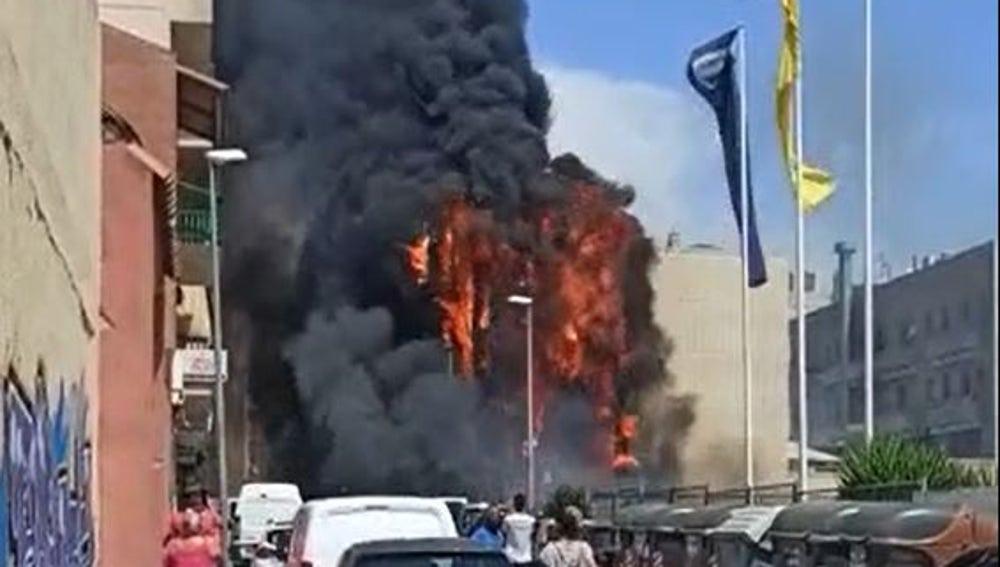 Incendio en El Vendrell, Tarragona