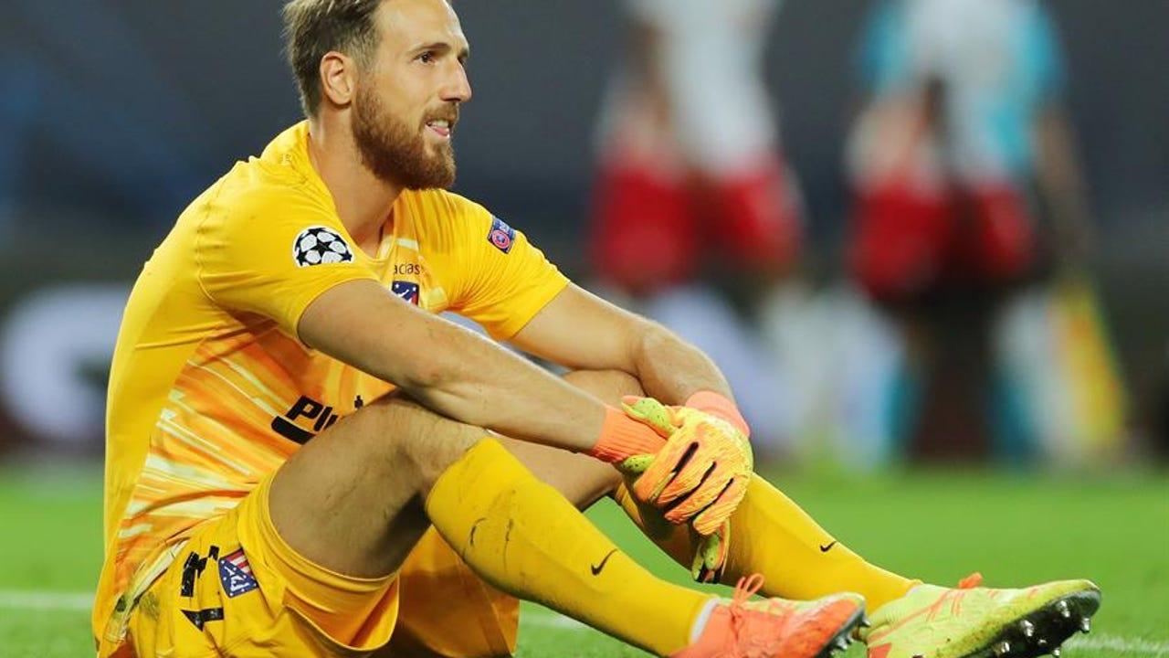 Oblak después de que Leipzig anotara su segundo gol