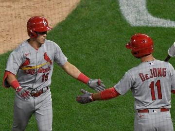 Dos jugadores de los Cardinals