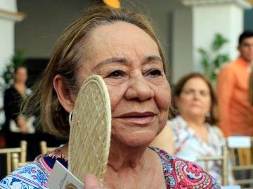 Mercedes Barcha, mientras participaba en una ceremonia en el Claustro de la Merced en Cartagena