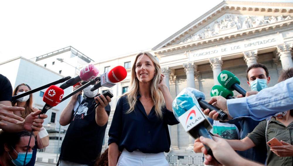 Comparecencia de Cayetana Álvarez de Toledo tras ser destituida