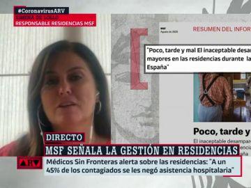 Ximena de Lollo, responsable de la respuesta en residencias de Médicos Sin Fronteras