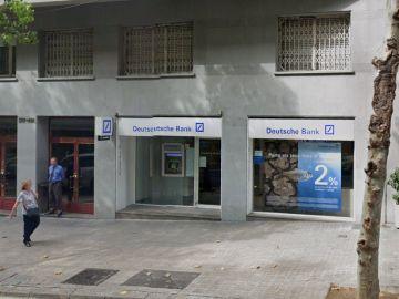 Sucursal del banco Deutsche Bank, en la Calle Balmes (Barcelona), donde ocurrió el robo