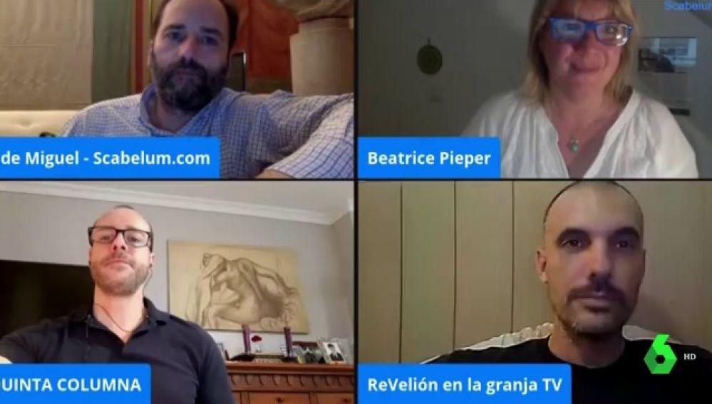 Los organizadores de la concentración negacionista de la pandemia de coronavirus