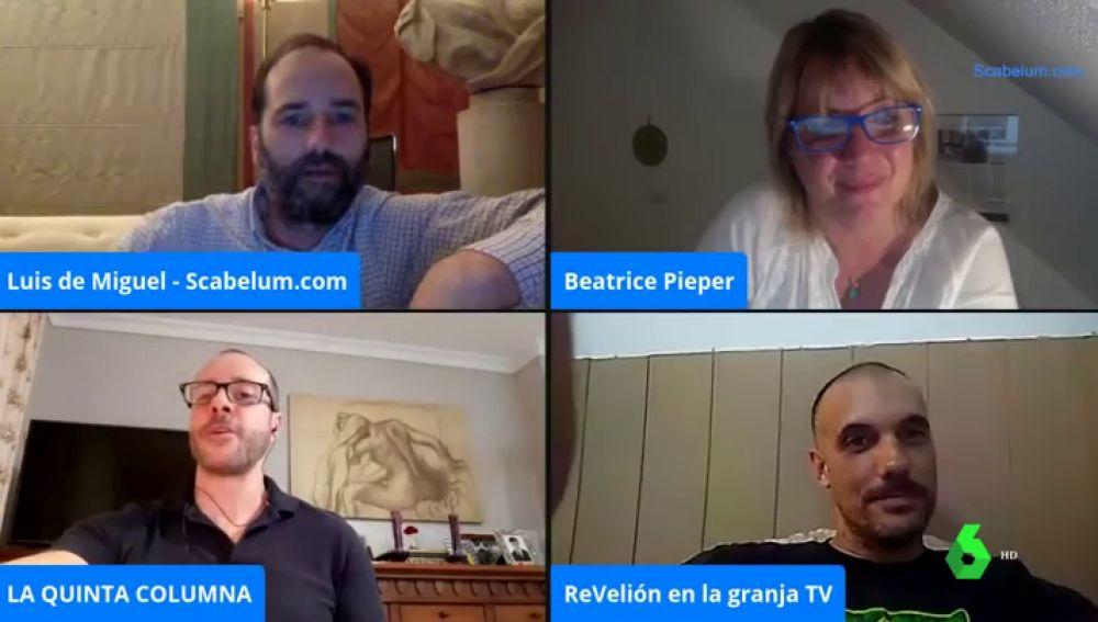 Captura del chat de los organizadores de la concentración negacionista de la pandemia de coronavirus