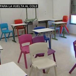 Imagen de un aula vacía